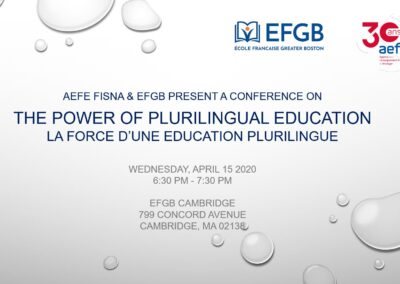 Conference: The power of Plurilingual Education -April 15, 2020-